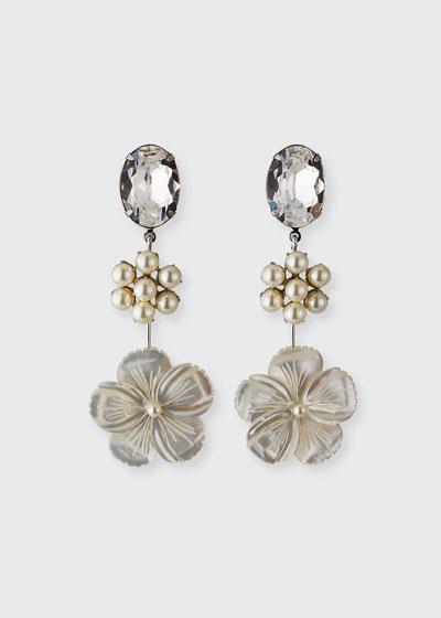 Kora Linear Earrings  Pearly