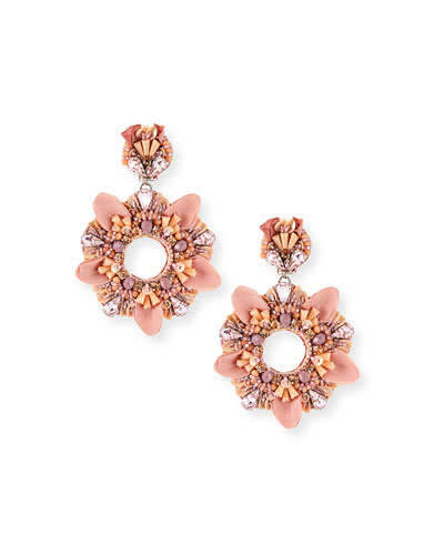 Amada Beaded Open Clip Earrings