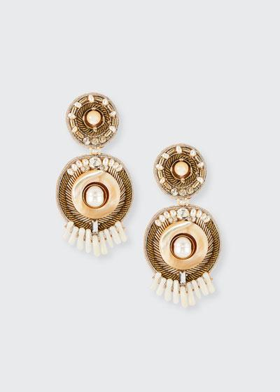 Sydney Mother-of-Pearl Clip Earrings