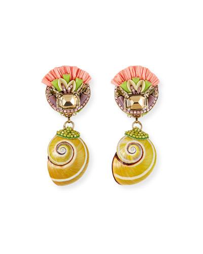 Felipa Shell Clip-On Earrings