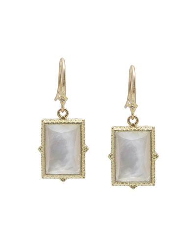 Old World 18k Mother-of-Pearl Doublet Drop Earrings