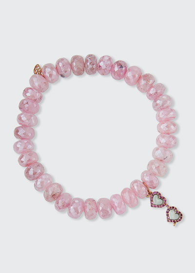 14k Rose Gold Pink Sapphire Sunglasses Grapolite Bracelet