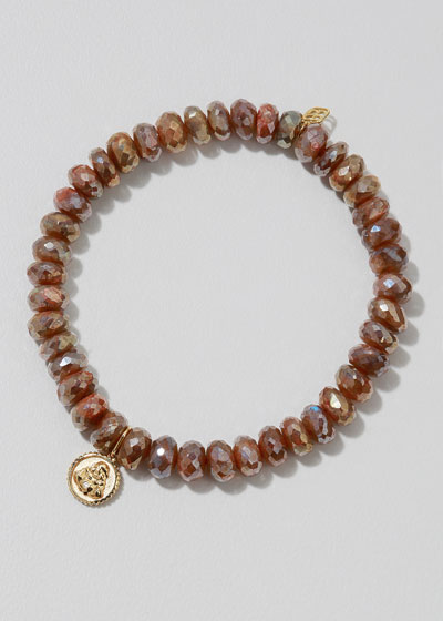 14k Labradorite Buddha Coin Bracelet