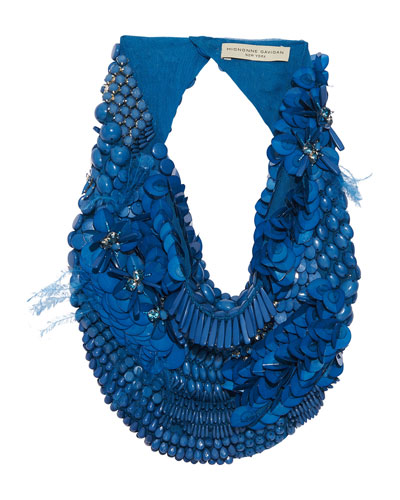 Haley Feather Scarf Necklace