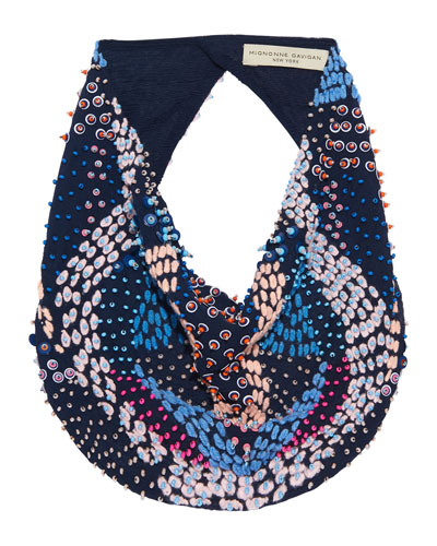 Zoe Le Charlot Beaded Scarf Necklace
