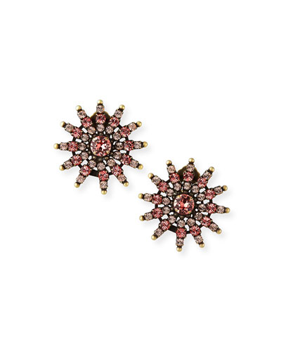 Camila Crystal Clip Earrings