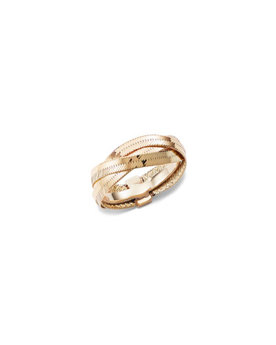 14k Braided Liquid Ring, Size 7