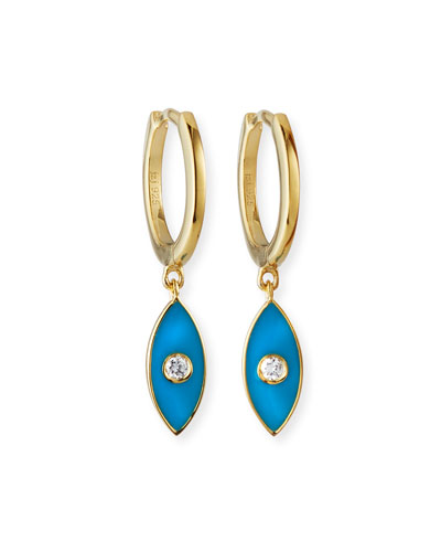 Nazar Enamel Huggie Earrings