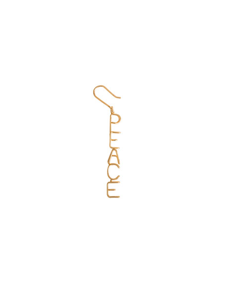 Image 1 of 1: 18k Peace Drop Earring, Single