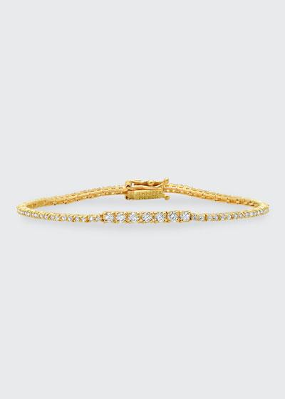 Small Diamond 4-Prong Tennis Bracelet