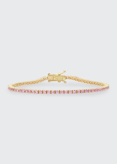 18k Pink Sapphire 4-Prong Tennis Bracelet