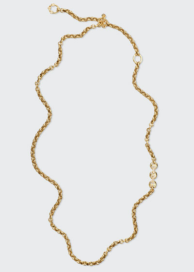 5mm Open-Link Necklace with Diamonds