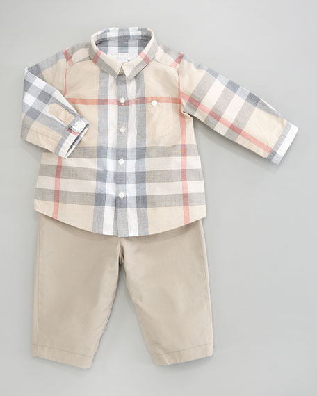 Trauls Pale Check Shirt, 3-24 Months