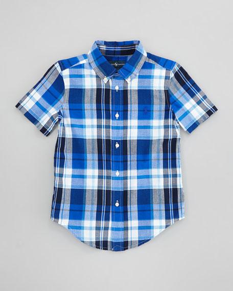 Blake Plaid Short-Sleeve Shirt, Sizes 2-6