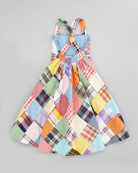 Patchwork Plaid Maxi Dress, Sizes 2T-6X