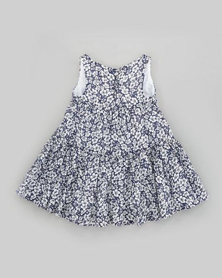 Floral-Print Crochet-Trim Dress, Sizes 2T-6X