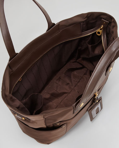 Eliz-A-Baby Preppy Nylon Diaper Bag, Lumber Brown