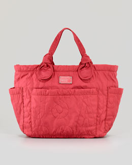 MARC by Marc Jacobs Eliz-A-Baby Pretty Nylon Diaper Bag, Rose Petal
