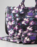 Pretty Nylon Eliz-A-Baby Diaper Bag, Black & Purple Multi