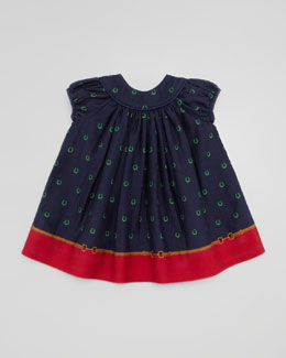 Ralph Lauren Border Horseshoe-Print Dress, 3-9 Months