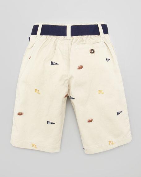 Shawl Collar Sweatshirt & Schiffli Pant Set, Sizes 3-9 Months