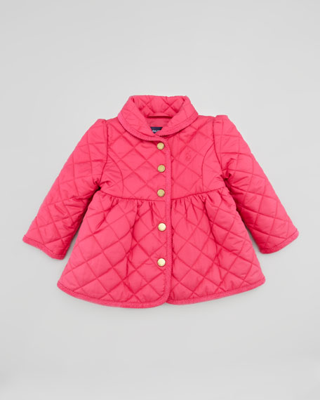 Quilted Barn Jacket, Pink, 9-24 Months