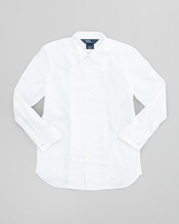 Ralph Lauren Wing-Collar Formal Dress Shirt, White, Sizes 4-7