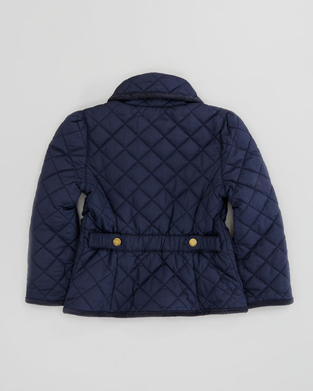 Quilted Barn Jacket, Aviator Navy, Sizes 2-3