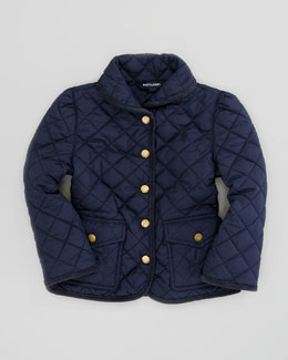 Ralph Lauren Quilted Barn Jacket, Aviator Navy, Sizes 2-3