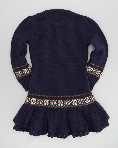 Equestrian Sweaterdress, Sizes 4-6X