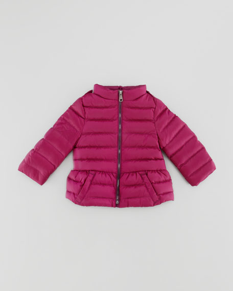 Infant Girls' Puffer Jacket, Magenta, 12M-2Y