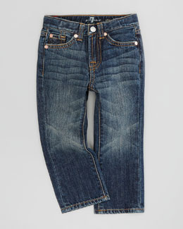7 For All Mankind Standard Fit New York Dark Jeans, Sizes 2-3