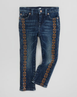 7 For All Mankind Spring Night Straight-Leg Jeans