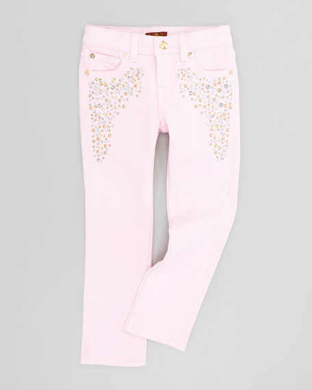 Roxanne Blush Pink Jeans, Sizes 4-6X