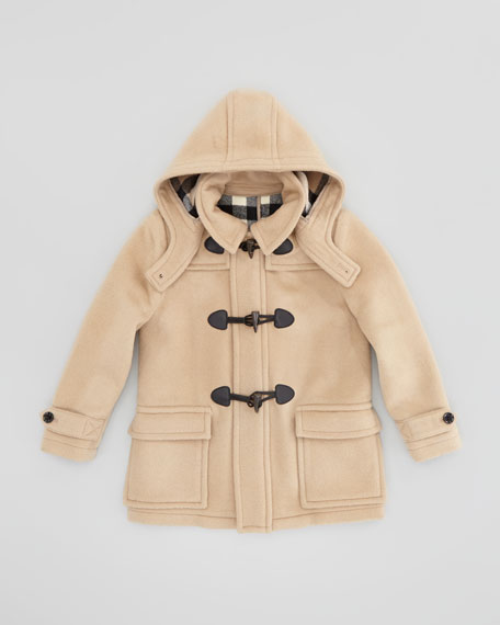 dab64873e Burberry Boys' Wool Duffle Coat, Camel