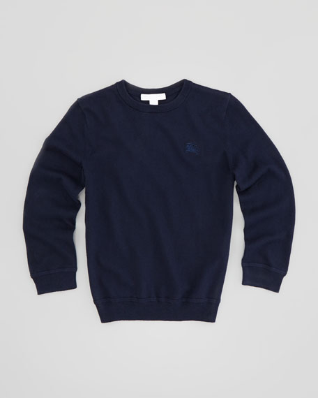 Boys' Elbow-Patch Knit Sweater