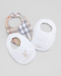 Burberry Newborn Bib Gift Set, White