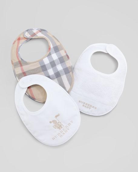 Newborn Bib Gift Set, White