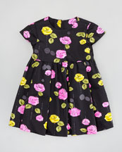 Milly Minis Mischa Dress, Black Multi, Sizes, 8-10