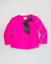 Milly Minis Ava Jacket, Shock Pink, Sizes 2-6