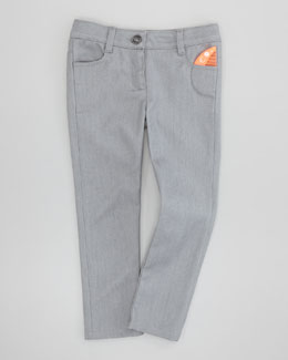 Little Marc Jacobs Shiny Slim-Fit Denim Jeans, Gray, 2Y-5Y