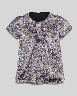Little Marc Jacobs Sequin Shift Dress, Purple, Sizes 6-10