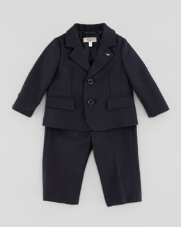 Little Boys' Two-Piece Suit, Blue, 3-24 Months