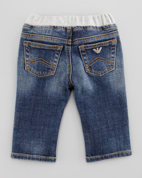Medium Stone-Wash Denim Jeans, 3-24 Months