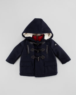 Armani Junior Two-Layer Nylon/Wool Coat, Blue/Red, 3-24 Months