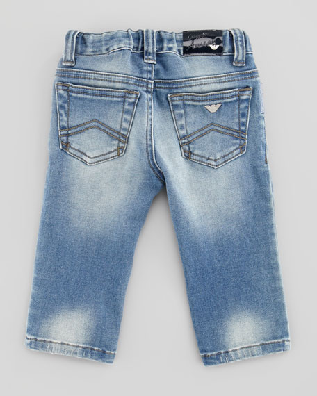 Blue Stone-Wash Denim Jeans, 3-24 Months