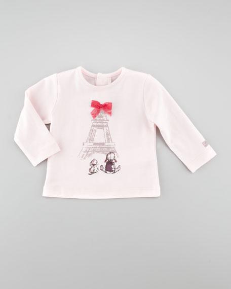 Long-Sleeve Paris-Graphic Shirt, Rose Pale, 3-18 Months