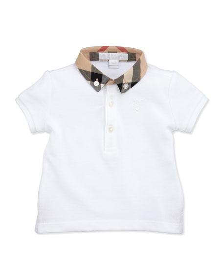 Mini Pique Polo Shirt, White