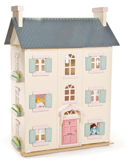 "Le Toy Van ""Cherry Tree Hall"" Four-Story Dollhouse"