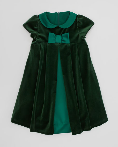 Velvet Bow Dress, Sizes 4-6X